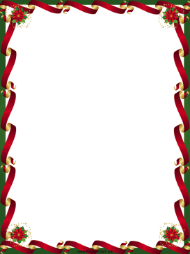 Gold and red ribbons. Poinsettia clipart ribbon
