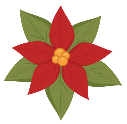 Poinsettia clipart svg file free. Cutting christmas cut svgs