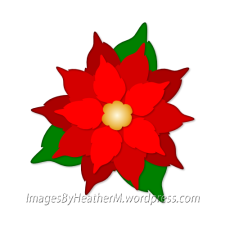 Layered and dxf files. Poinsettia clipart svg file free