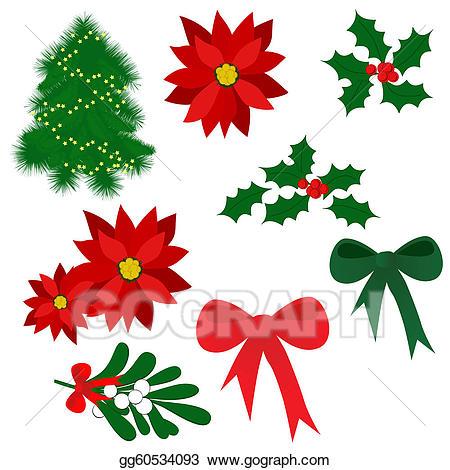 Clip art vector christmas. Poinsettia clipart symbol