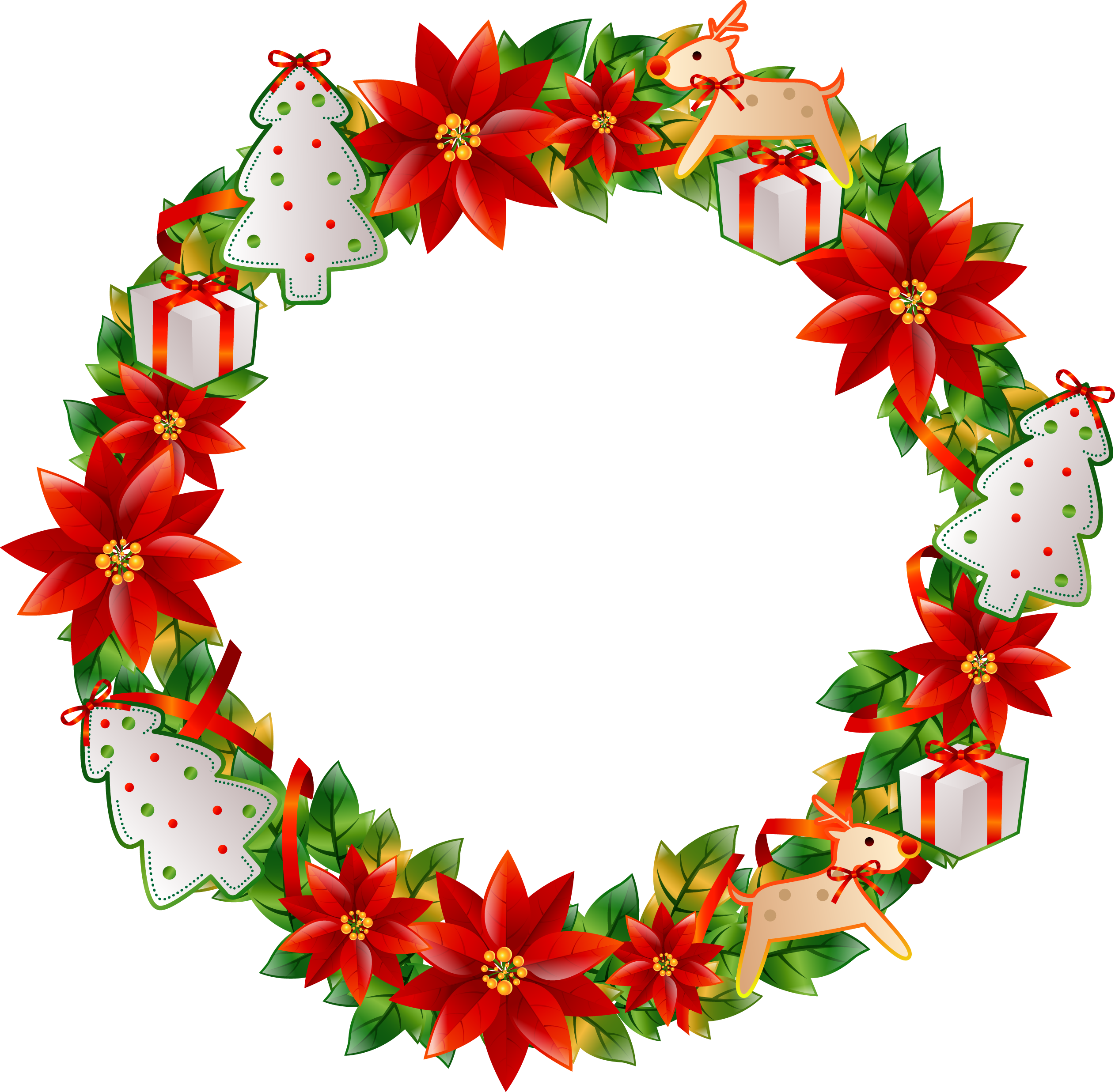 Christmas wreath transprent free. Flower circle png