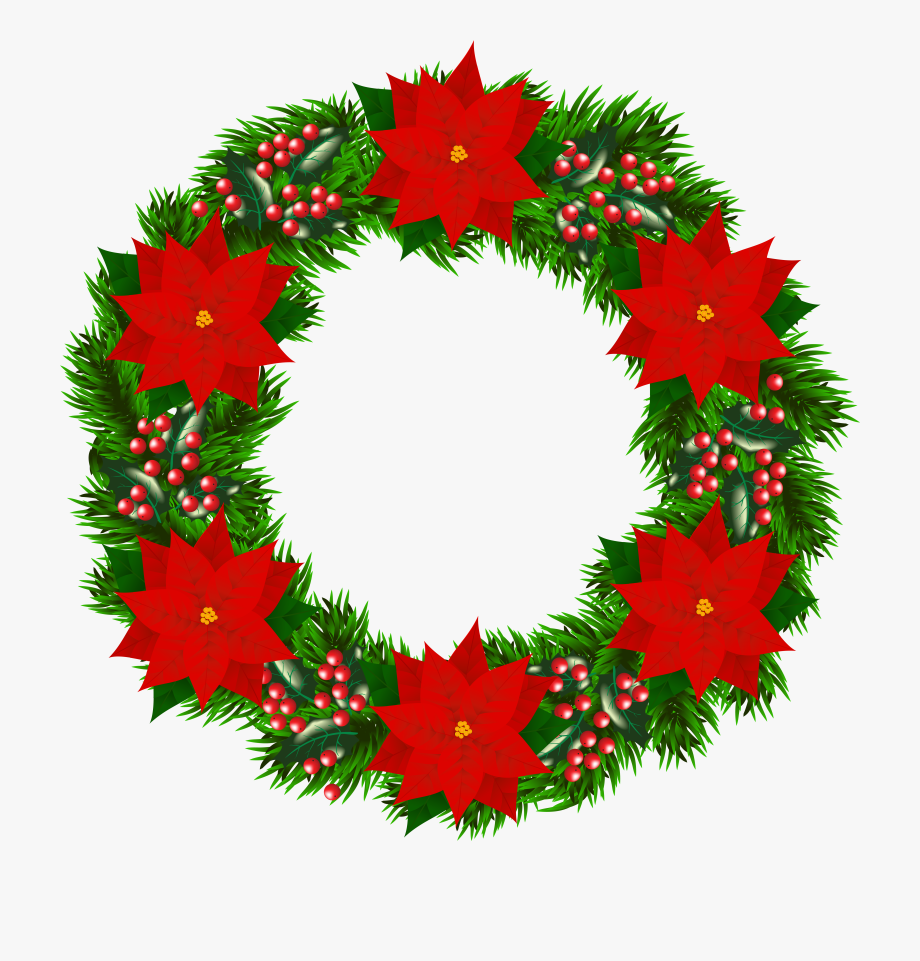 Poinsettias clipart poinsettia wreath. Unique christmas garland png