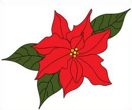 Free poinsettia. Poinsettias clipart