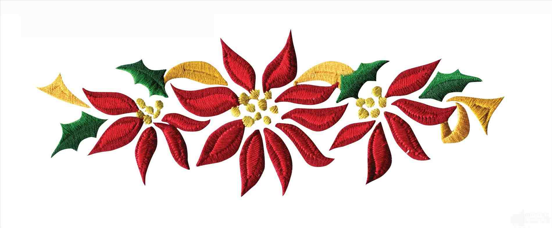 Christmas poinsettia pictures free. Poinsettias clipart banner