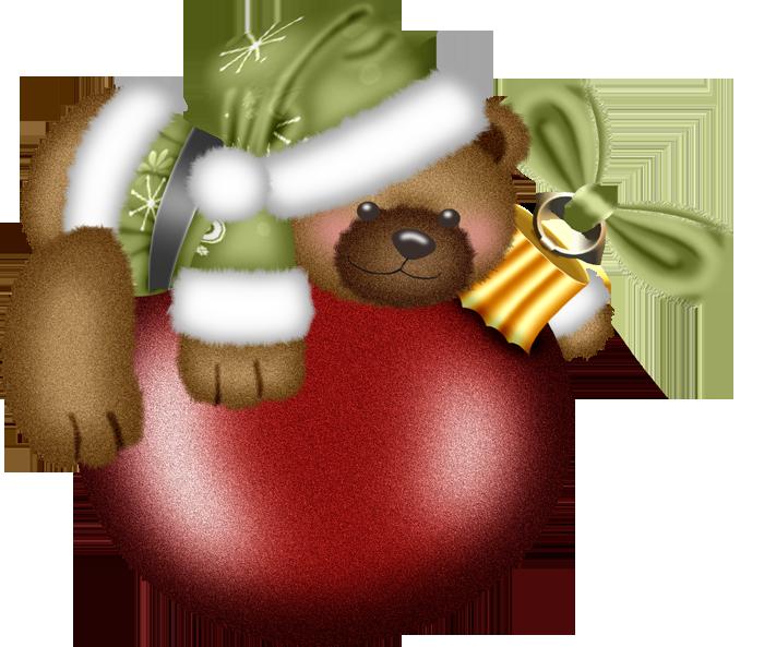 Poinsettias clipart ornament. Christmas treasures teddy bear