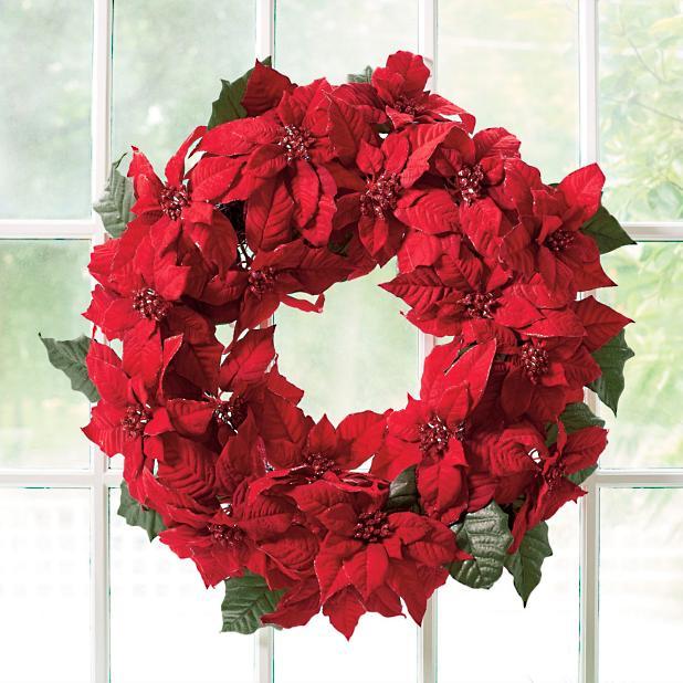 Poinsettias clipart poinsettia wreath. Grandin road