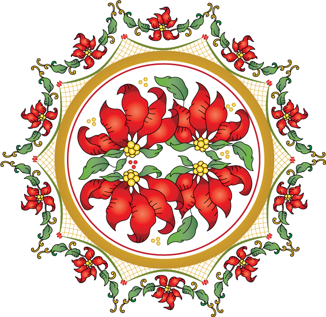 Poinsettias clipart single. Winter birds and use