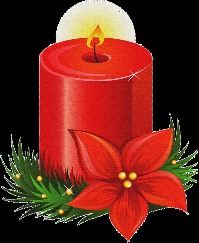 Mis laminas para decoupage. Poinsettias clipart vintage christmas candle