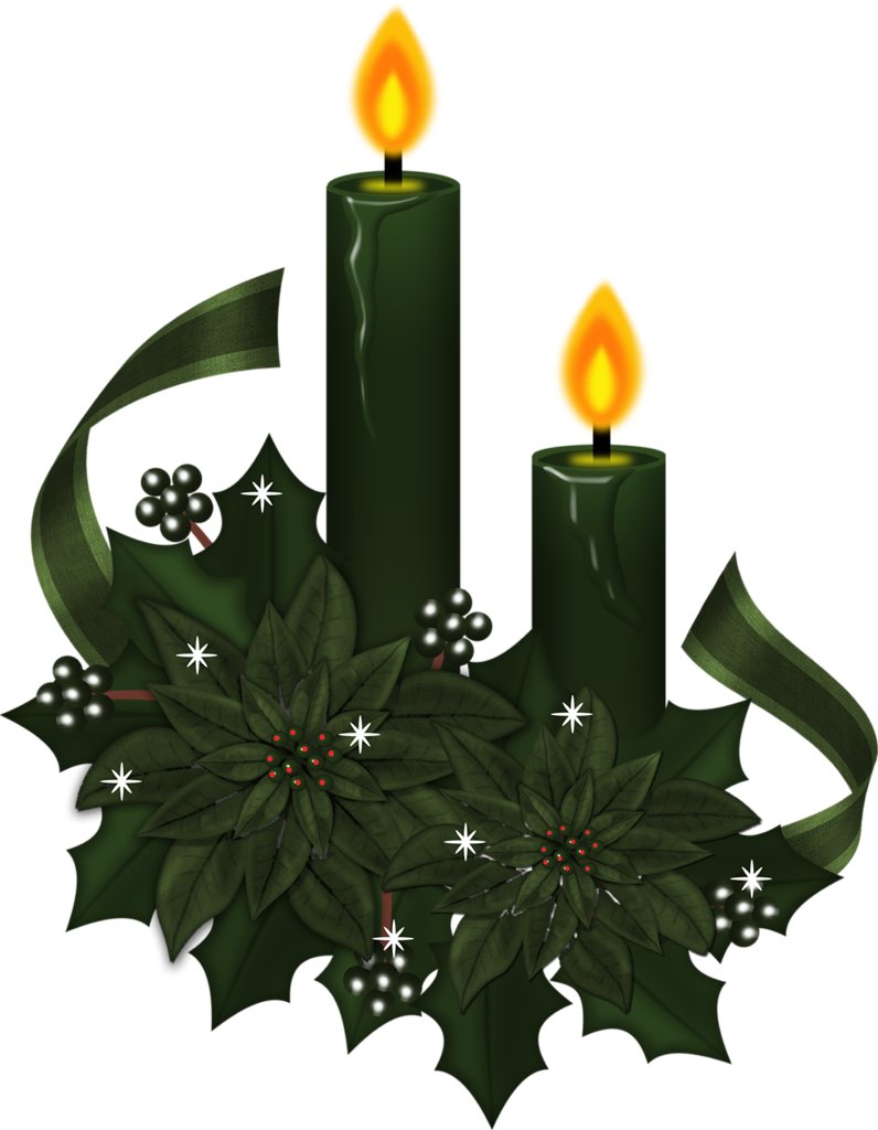 Grunge style witchey candles. Poinsettias clipart vintage christmas candle