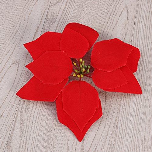 Poinsettias clipart yuletide. Vorcool pcs artificial poinsettia