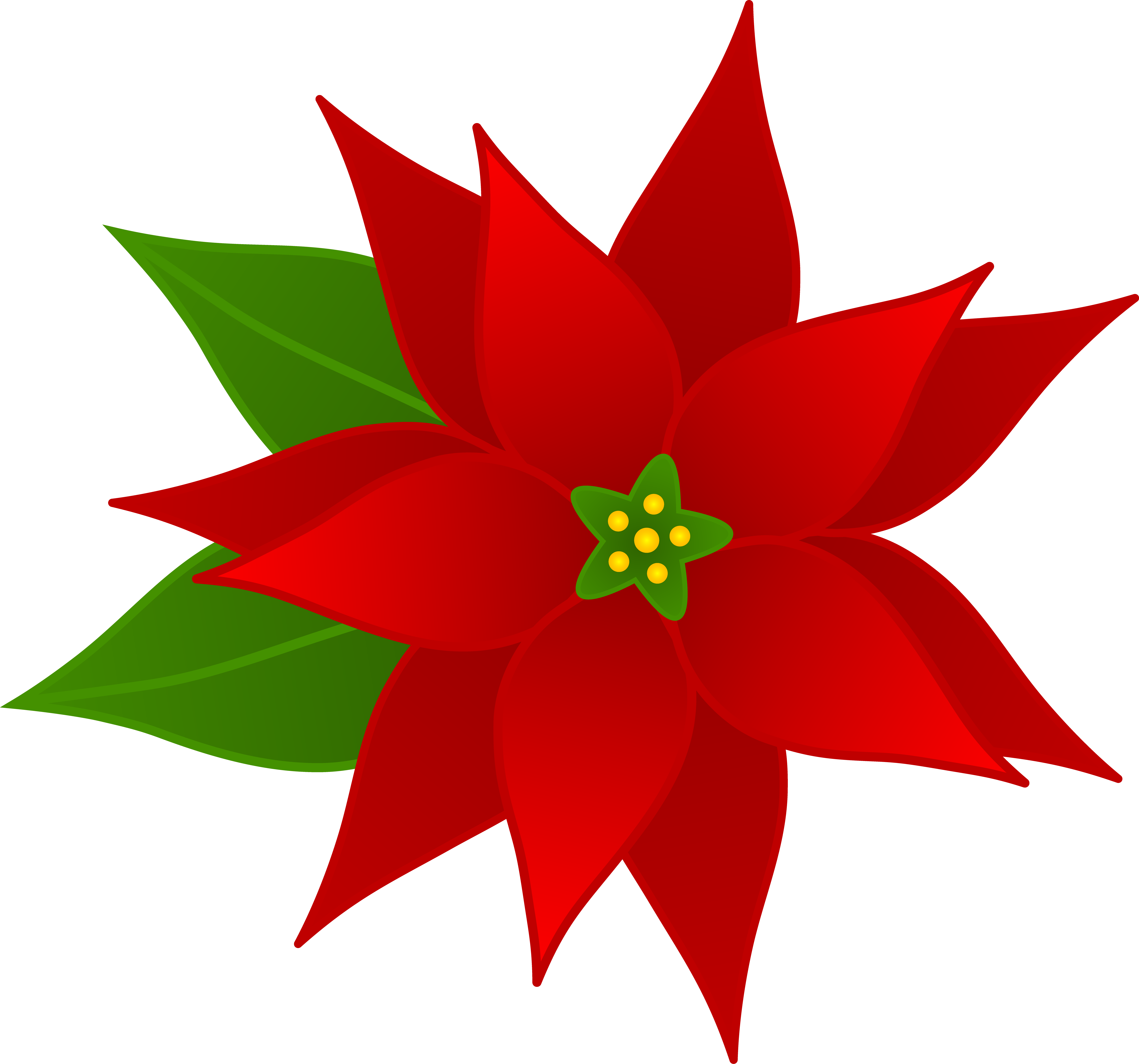 Free poinsettias cliparts download. Clipart christmas design