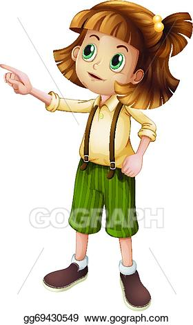 Vector stock a young. Pointing clipart