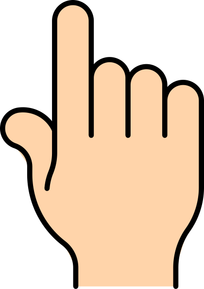 Pointing clipart. Finger bold clip art