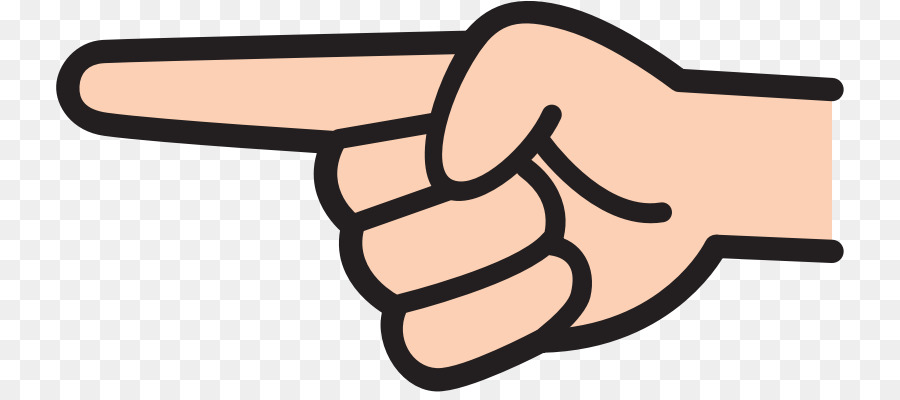 Index point finger clip. Pointing clipart