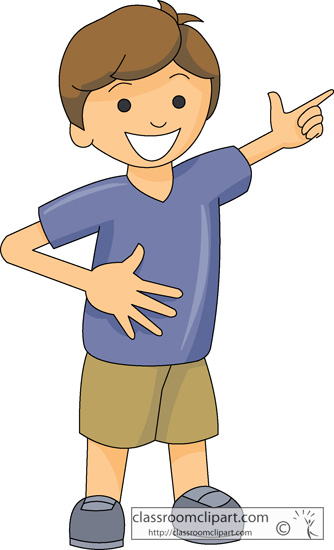Boy . Pointing clipart