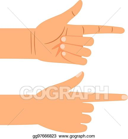 Pointing clipart gesture. Clip art vector finger