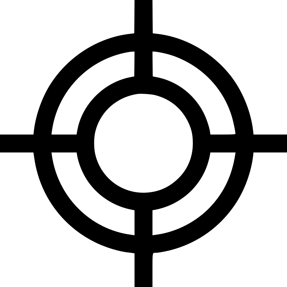 Point goal cross pointer. Target icon png