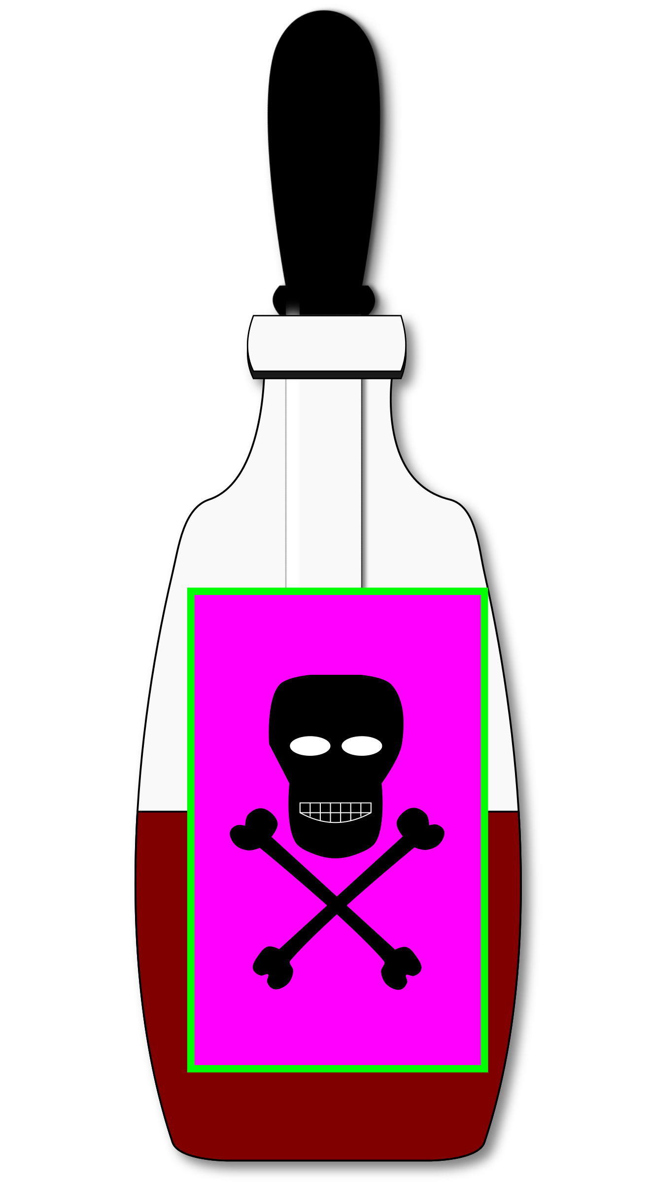 Poison clipart. Vial closed big image