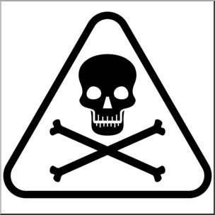Clip art symbol b. Poison clipart