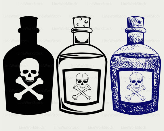 Bottles svg . Poison clipart