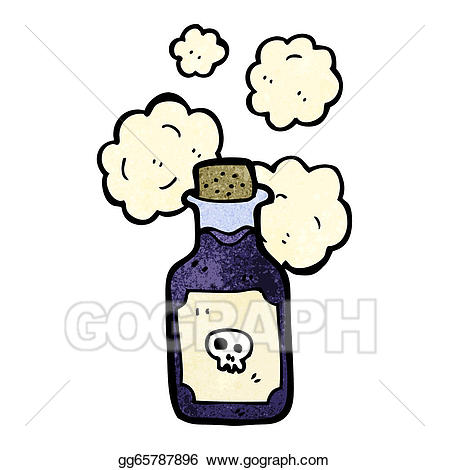 Poison clipart. Eps vector cartoon vial