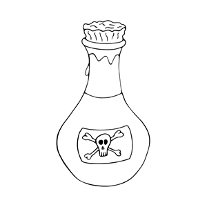 Free cliparts download clip. Poison clipart black and white