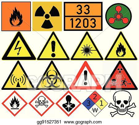 Eps vector hazard symbols. Poison clipart carcinogen
