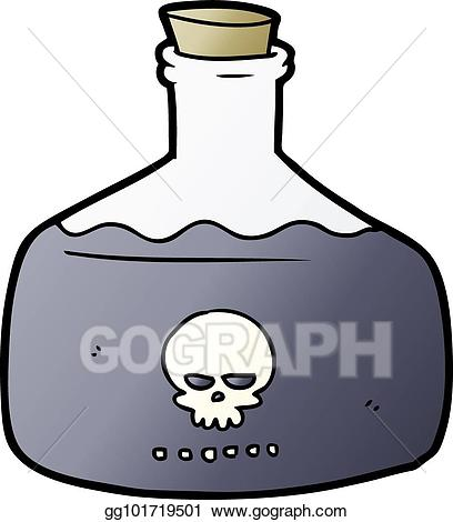 Poison clipart poison vial. Vector illustration cartoon of