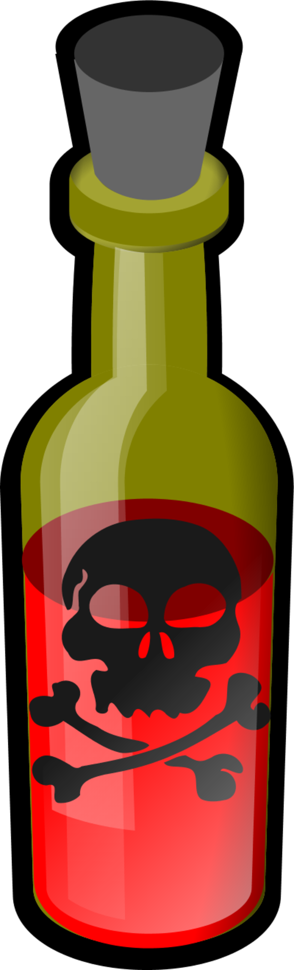 poison clipart wine bottle