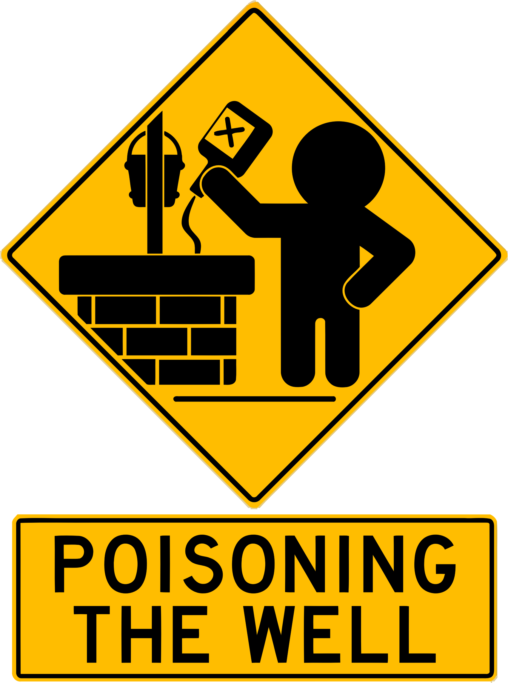 Politics clipart discourse. Poisoning the well big