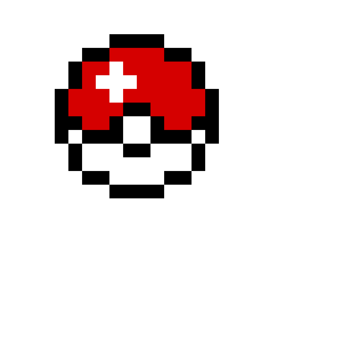 Pixilart by powerful pickle. Pokeball clipart 8 bit
