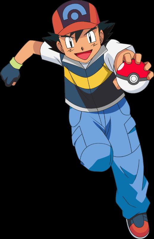 Image ash holding pok. Pokeball clipart anime
