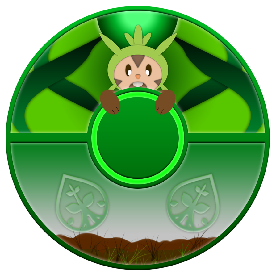 Pokeball clipart anime. Edit chespin by dswaj