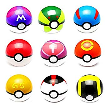 Pokeball clipart anime. Amazon com pcs pokemon