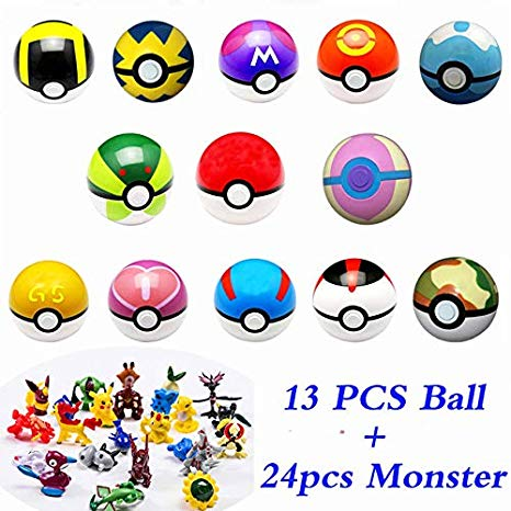 Amazon com pcs pokemon. Pokeball clipart anime