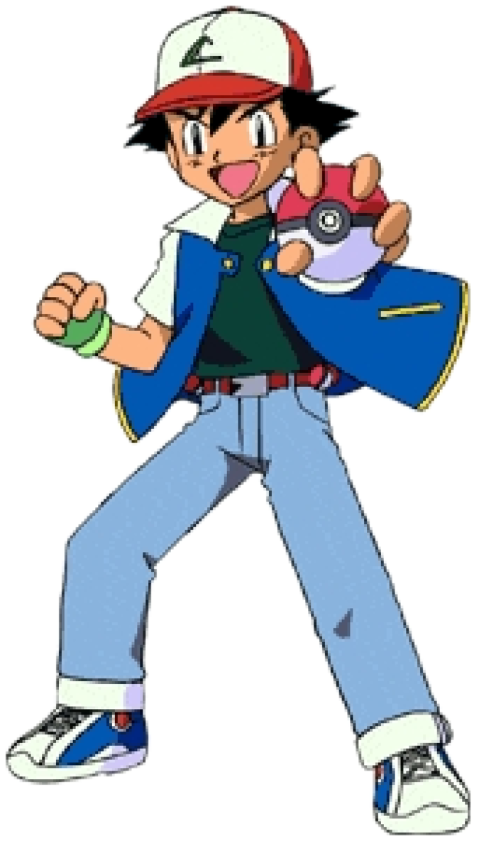 Pokeball clipart character pokemon. Ash poses with by