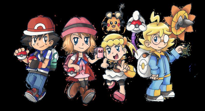 Pokeball clipart chibi. Pokemon kalos group version