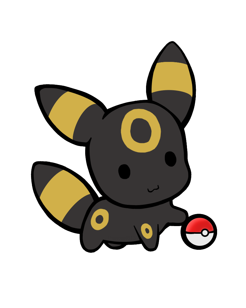 Umbreon by pianogirl on. Pokeball clipart chibi