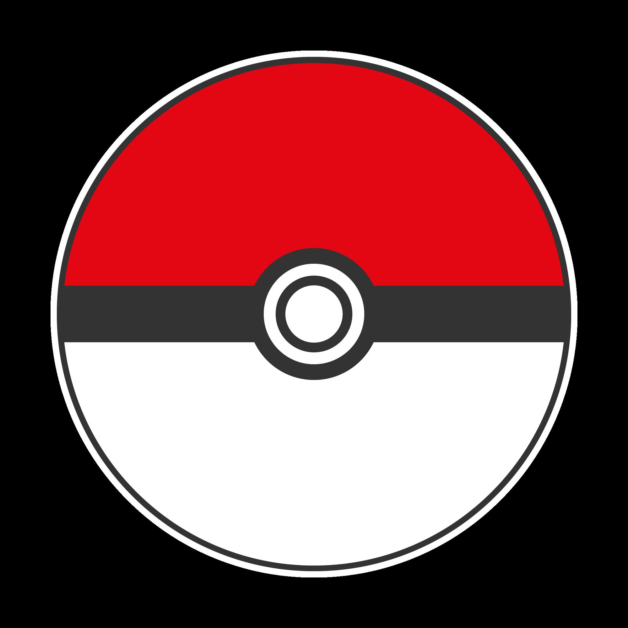 Pokemon ball red free. Pokeball clipart cool