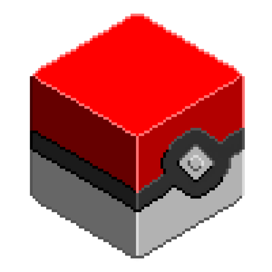 Pokeball clipart cube. Cubeartpokeballlarge by skuske on