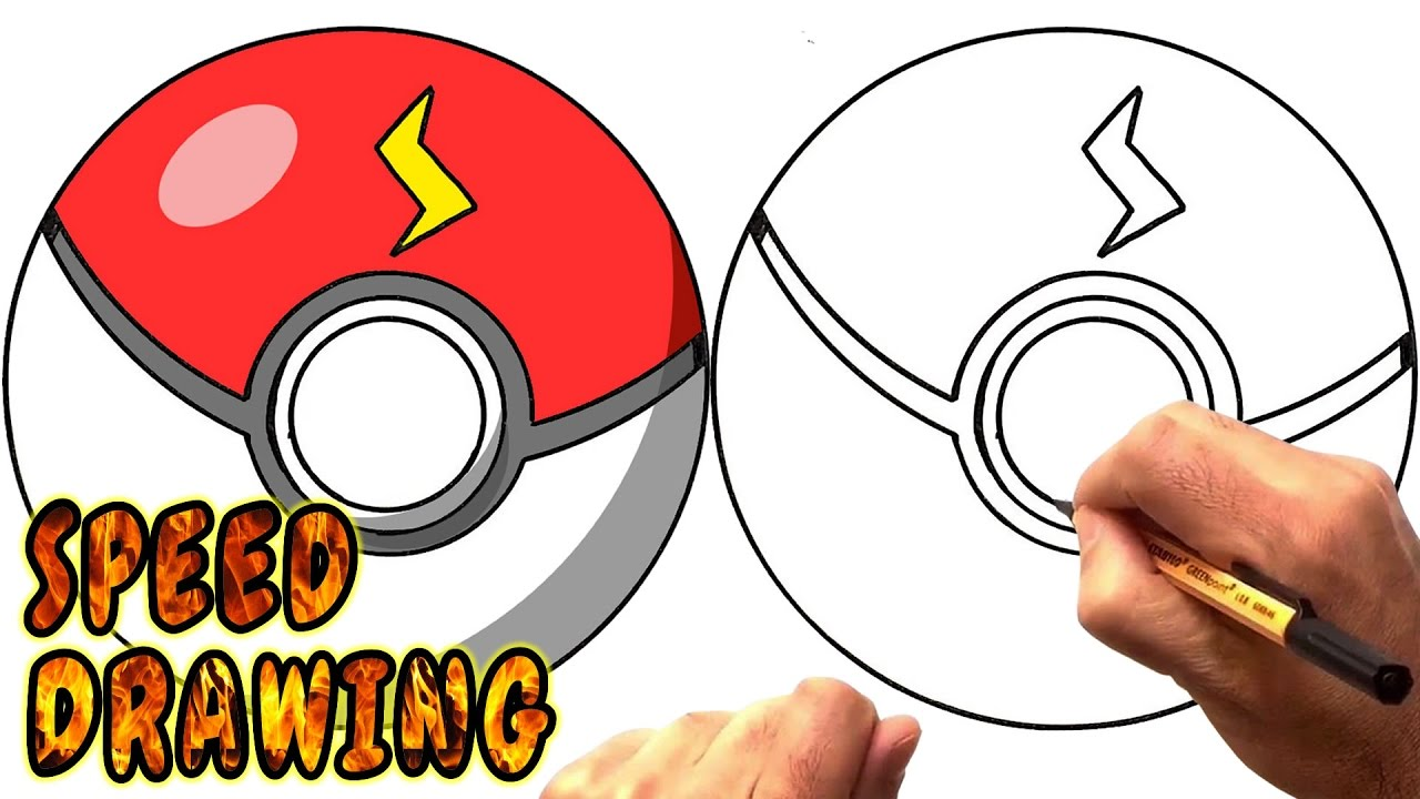 Pokeball clipart drawn. Pokemon ball drawing free