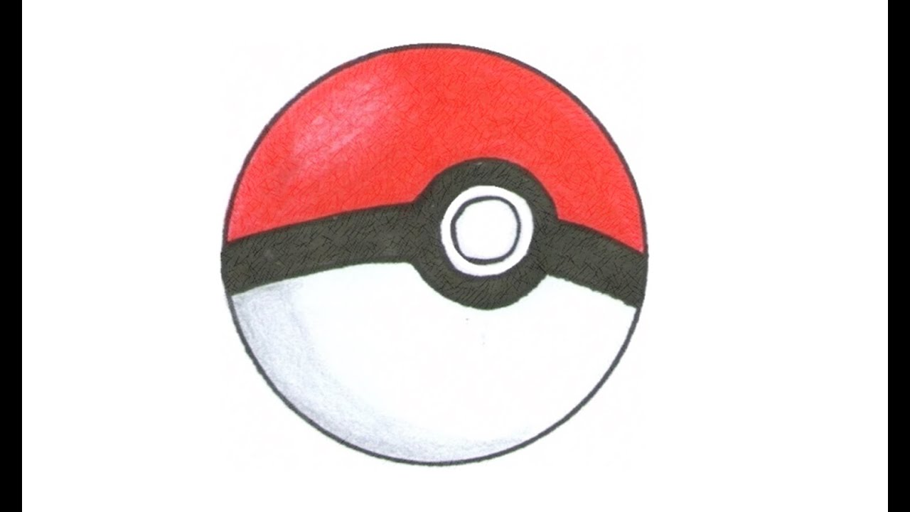 How to draw a. Pokeball clipart easy