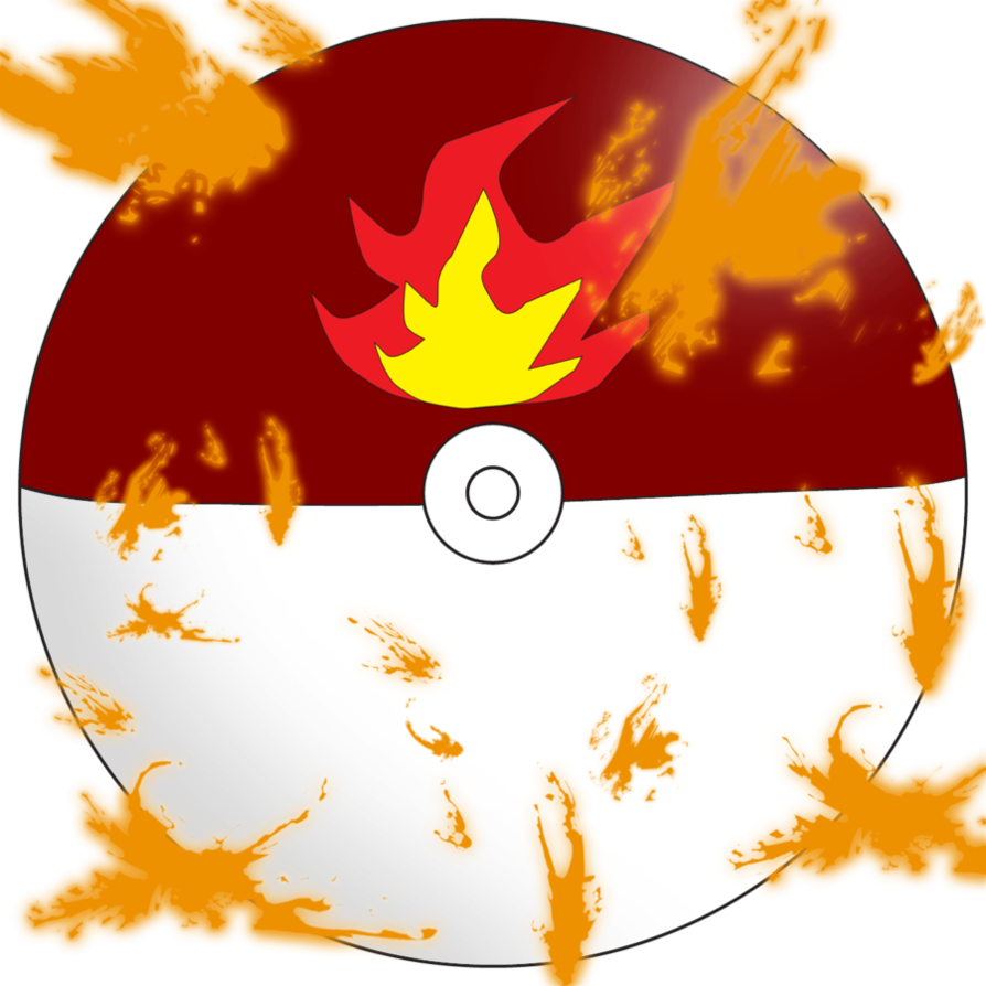 By water dragon on. Pokeball clipart fire red