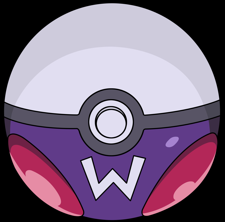 Pokeball clipart half. Pokemon mario extended universe
