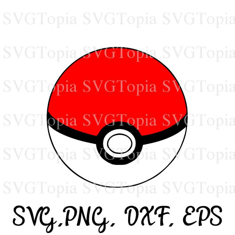 Pokemon svg png eps. Pokeball clipart high re