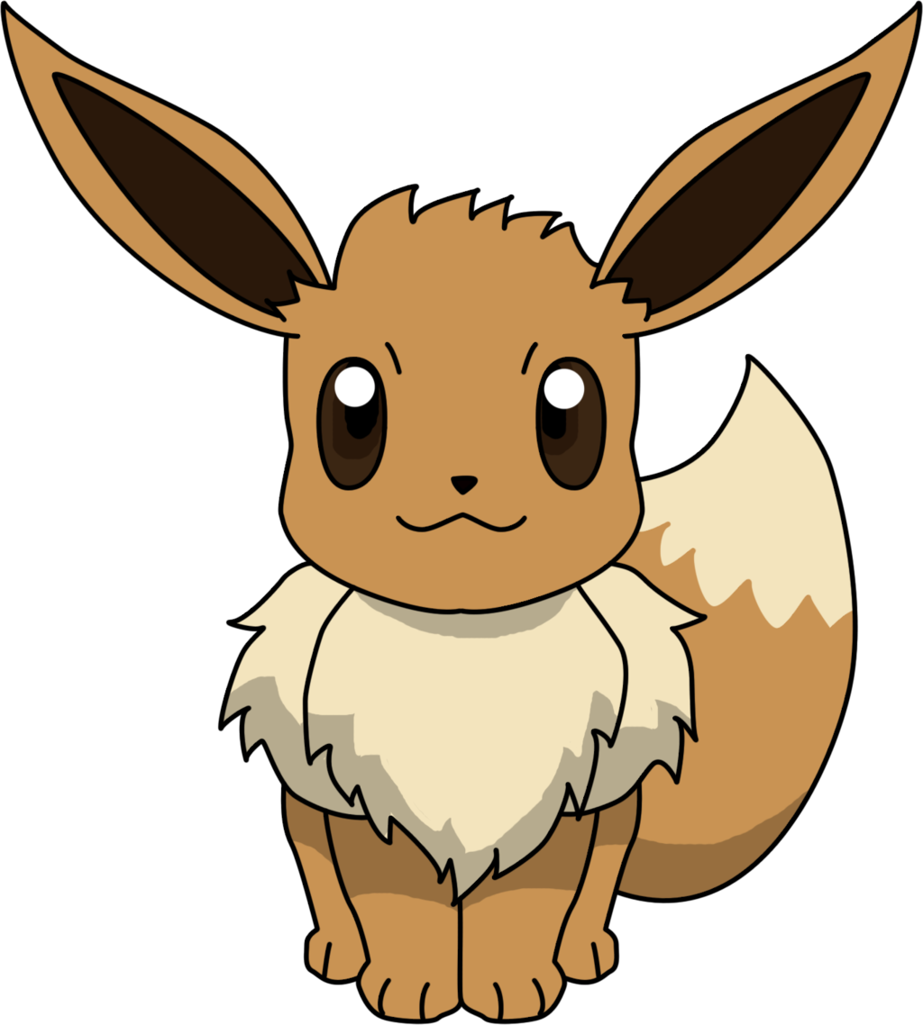 Pokeball clipart high resolution. Eevee sitting png by