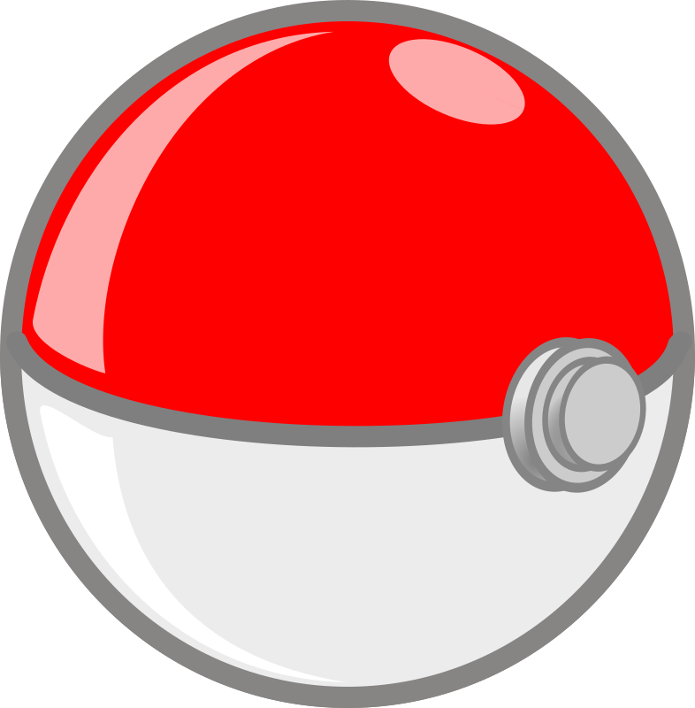 Poket ball medium image. Pokeball clipart open