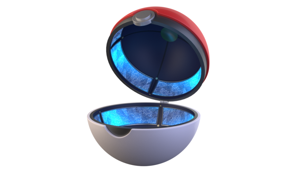 Pokeball clipart open. Download png transparent image