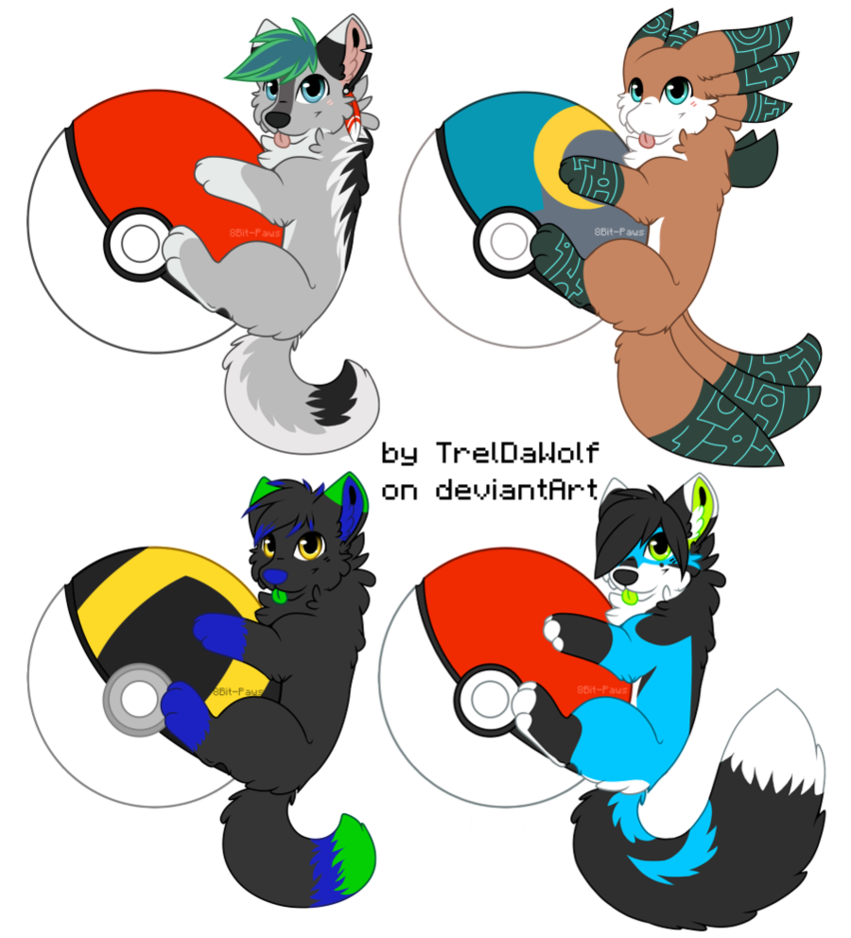 Pokeball clipart open drawing. Badges batch by treldawolf