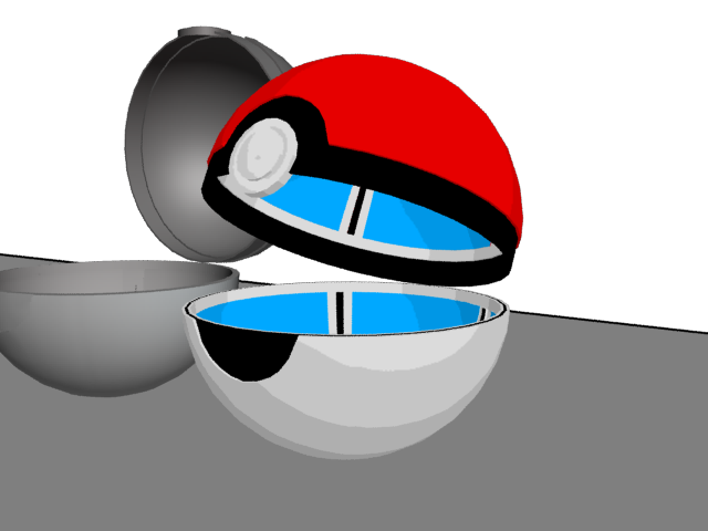 Pokeball clipart open